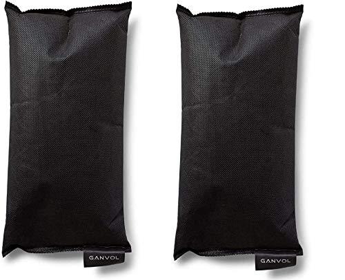 Ganvol 2 Sacchetti di Gel di silice riutilizzabili da 500 g, deumidificatore per Auto essiccante, Rimuovere l'eccessivo Odore di Muffa/umidità/Parabrezza + tappetini Antiscivolo