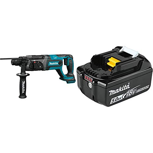 "Makita XRH04Z 18V LXT Lithium-Ion Cordless 7/8"" Rotary Hammer, accepts SDS-PLUS bits with BL1850B 18V LXT Lithium-Ion 5.0Ah Battery"