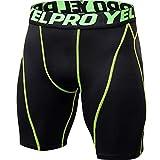 sdawa Mallas Deportivas de Secado Rápido Baselayer Funcionamiento Pantalón de Media Pierna para Deportes Hombre Deportes Pantalón Corto Hombre