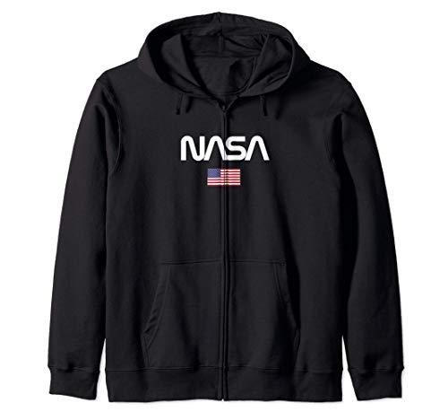 Nasa Worm Logo Camiseta para Hombre Sudadera con Capucha