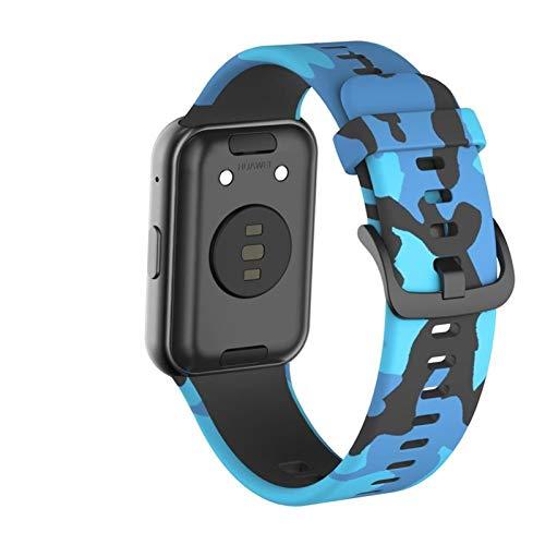 YGGFA Correa de goma de camuflaje para-Huawei Watch Fit Sport Smart impermeable correa de reloj pulsera accesorios para-huawei fit correa de reloj