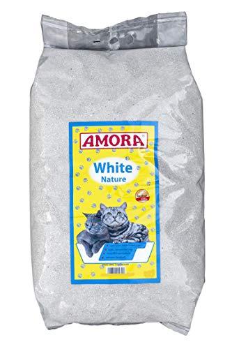Amora White Katzenstreu m. Babypuderduft 8Liter