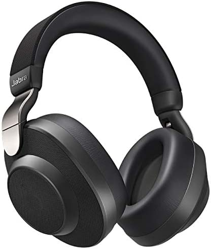Jabra Elite 85h Wireless Noise-Canceling Headphones, Titanium Black – Over Ear Bluetooth Headphones Compatible with iPhone & Android – Built-in Microphone, Long Battery Life – Rain & Water Resistant
