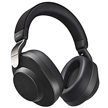 Jabra Elite 85h Wireless Noise-Canceling Headphones Titanium Black – Over Ear Bluetooth Headphones Compatible with iPhone & Android - Built-in Microphone Long Battery Life - Rain & Water Resistant