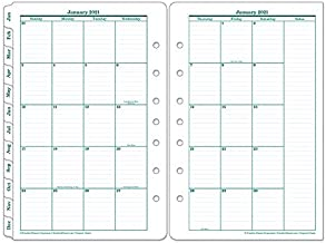 FranklinCovey Classic Original Two Page Monthly Ring-Bound Tabs - Jan 2021 - Dec 2021