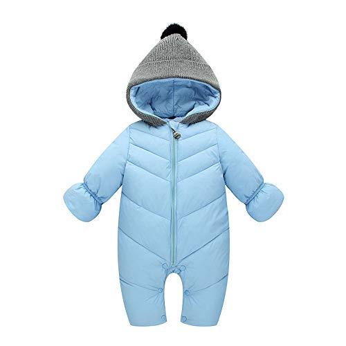 ZODOF Chaqueta de algodón cálida Mono para niños Recién Nacido bebé niña niño Invierno con Capucha Mono Mameluco Grueso Ropa de Abrigo