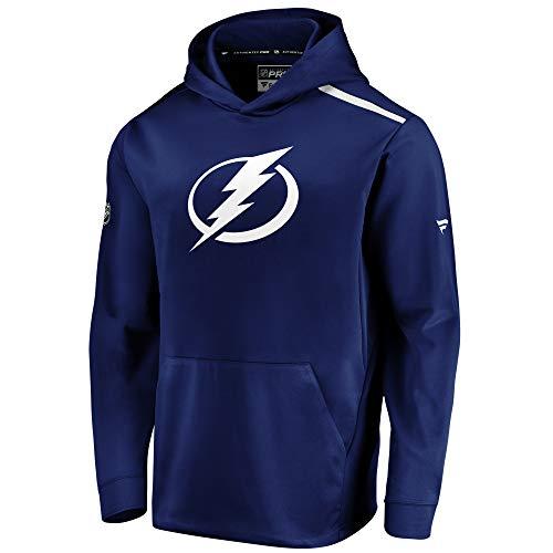 Fanatics NHL Tampa Bay Lightning Hoody Authentic Rinkside Hooded Sweater Kaputzenpullover (L)