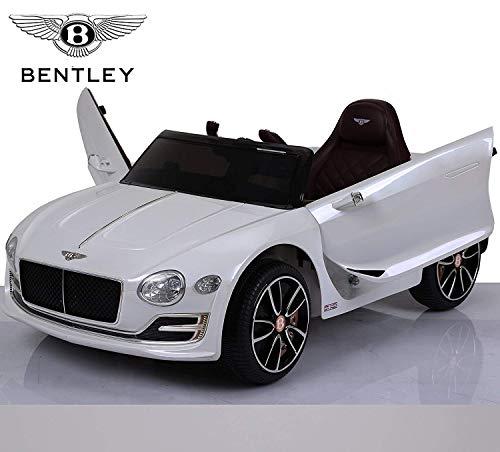 BC BABY COCHES BC Baby Vertikale elektrischen Autos BC babycoches-Coche 12V für Kinder elterliche Bentley Continental, Einsitzer, Fernbedienung, Türen, Sitz Kunstleder, Eva Räder. Weiß