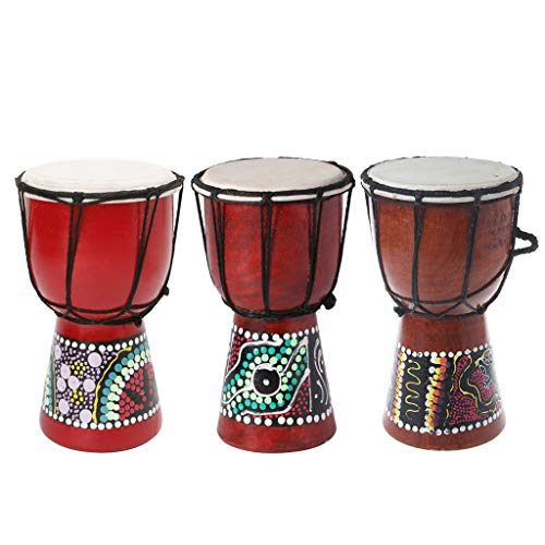 Abicial 4 Inch Professional African Djembe Drum Bongo Wood Good Sound Musical Instrument