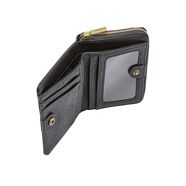 Fossil Women's Logan Leather RFID-Blocking Mini Multifunction Bifold Wallet 3