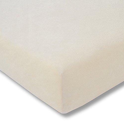 ESTELLA Samt-Velours/Frottee Spannbettlaken Spannbetttuch Verschiedene Größen und Farben 150 x 200 cm leinen