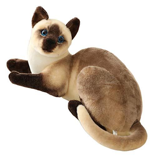BARMI Siamese Cat Plush Siamese Cat Stuffed Animal Stuffed Siamese Cat Plushies Lifelike Siamese Cat Pillow Realistic Stuffed Cat 30cm/12inch