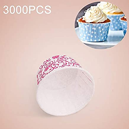 New Kitchen Appliance 3000 PCS Floral Pattern Round Lamination Cake Cup Muffin Cases Chocolate Cupcake Liner Baking Cup, Size: 5 x 3.8 x 3cm Kitchen Tool