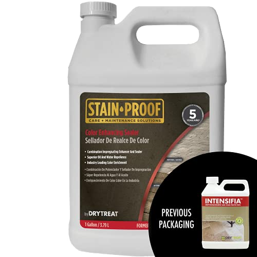 DRY-TREAT Intensifia - - Combination Enhancer and Sealer for Natural Stone, Masonry, Patios, Driveways, Floors, Countertops, Garages, and More - 130832-1 Gallon