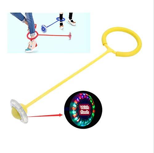 Tikwisdom LED de una sola pierna que destella la rueda saltando la bola de los niños juegos al aire libre enérgicos - niños que rebotan la bola del pie de la bola de los juguetes de