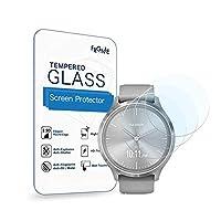 (3枚入り) Frgnie for Garmin (ガーミン) Vivomove 3 スクリーン保護フィルム, 9H 強化 ガラス 保護フィルム 対応 ガーミン 腕時計 Vivomove 3