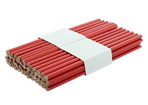 Zimmermannsbleistift rot, oval 250 mm 48 Stück