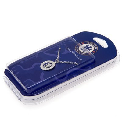 Chelsea FC Official Product Silver Plated Jewellery Pendant & Chain Crest by Chelsea F.C.