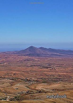 Notebook: a4 cute lined journal   fuerteventura mountains sea ocean canary islands