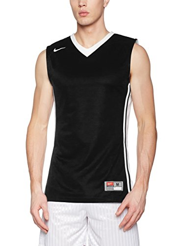 Nike Herren National Varsity Stock Basketballtrikot Trikot, schwarz/Weiß, M-44/46