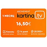 Kartina TV 1 Monat ABO Premium Paket! 200+ Sender in Bester Bild und Ton Qualität, Mediathek, Start, IVI, Megogo. Offizieler Shop von Kartina.TV!