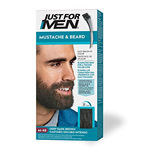 Just For Men Mustache & Beard Brush-In Color Gel, Deep Dark Brown (Packaging May Vary)