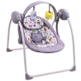 Musical electric baby swing / deckchair: SPARKY (gray)