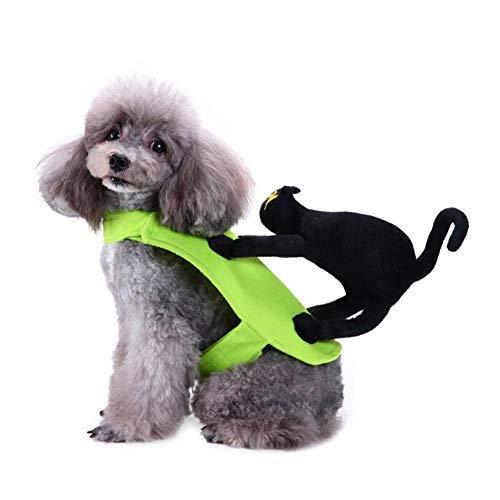 Disfraces de Halloween para Mascotas Divertido Gato Negro Paseo...