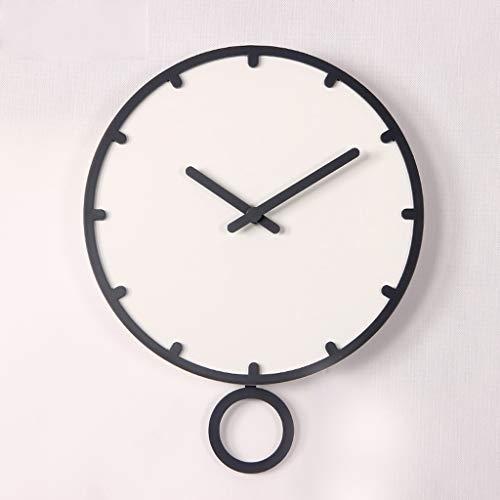 MQQ Relojes Creativos Decoración De Sala De Estar Redonda Gráficos De Pared Silenciosos Reloj De Pared Grande ABS Sin Batería Relojes Decorativos De Pared Redonda De 12 Pulgadas / 14 Pulgadas