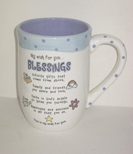 Ganz Collectible Large Coffee Mug - My Wish for You ... Blessings
