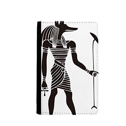 beatChong Antigua Cubierta De La Carpeta De Viajes Titular del Pasaporte Anubis Tótem Fresco Bolso Tarjeta Caso Egipto