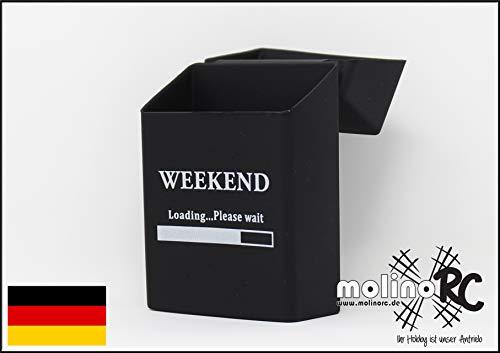 molinoRC Zigaretten-Box aus Silikon | Weekend - Zigarettenhülle | Zigarettenetui | tandardgröße - auch passend für die neuen 21er Schachteln | Expressversand aus BRD
