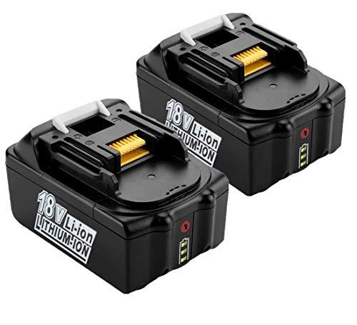 J-Conel 2X BL1850B Batteries 18V 5.0Ah Replacement Battery Fits for Makita BL1850 BL1840 BL1830 BL1815, for Makita Battery 18V Chainsaw DUC353Z Lawn Mower DLM380Z Hammer Drill DHR171Z