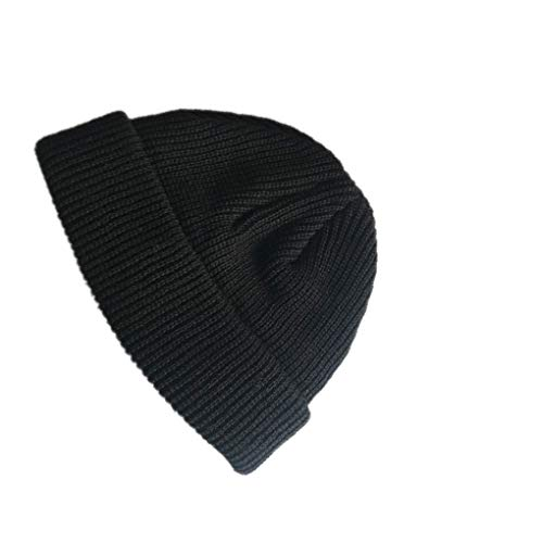 Jinzuke Adulte Hommes Tricoté Calotte Court Hip Hop Hat Bonnet Outdoor Ski Calotte Retro Chaud Bonnet