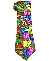 Christmas ties silk necktie men gifts Xmas tie mens ties box red green yellow mix