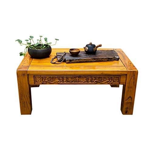 Kleine tafel antieke salontafel uit oude iepe kleine theetafel in de woonkamer Erkervensttafel op het balkon antieke gesneden tafel lage tatami tafel