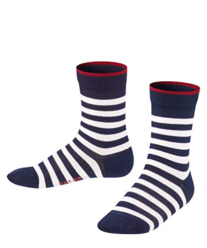 FALKE Unisex Kinder Double Stripe SO Socken, Blau (Marine 6121), 27-30