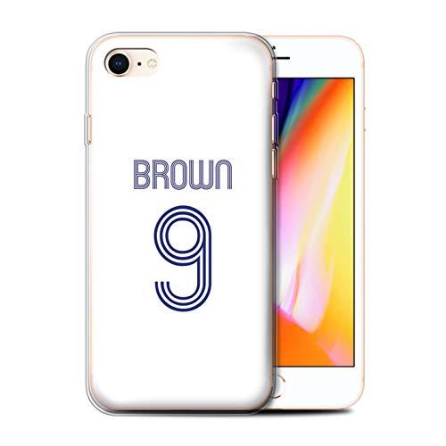 Stuff4 Telefoonhoesje/Cover/Skin/IP-GC/Custom Football Club Shirt Kit Collectie Apple iPhone SE 2020 Wit Blauw