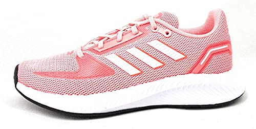 adidas Runfalcon 2.0, Road Running Shoe Mujer, Super Pop/Cloud White/Solar Red, 40 EU