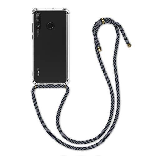 kwmobile Hülle kompatibel mit Huawei P30 Lite - mit Kordel zum Umhängen - Silikon Handy Schutzhülle Anthrazit