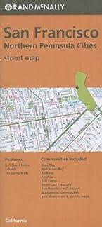 San Francisco, northern peninsula cities street map, CA Rand McNally (Orange Cover)