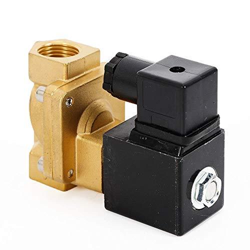 RANZIX Magnetventil Messing AC 230V Stromlos Geschlossen NC 2/2 Wege Elektrisches 1/2 3/4 Zoll (230V 3/4