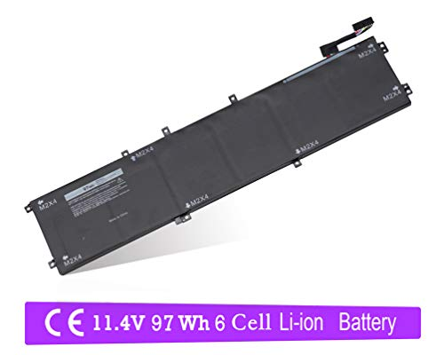 6GTPY Laptop Battery for Dell XPS 15 9560 9550 Precision 5510 5520 M5520 6 Cell 97Wh 11.4V