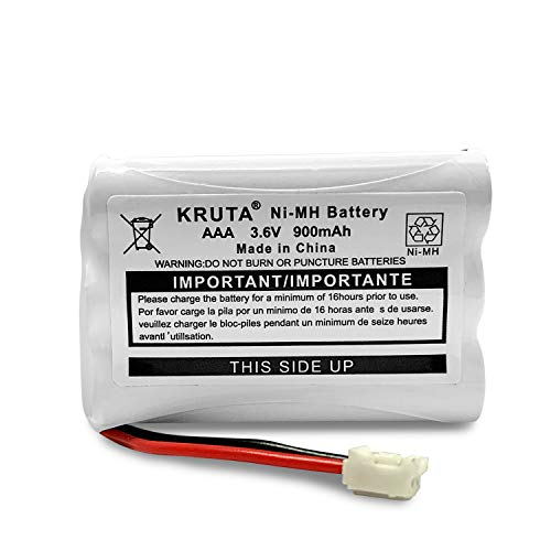 Kruta 900mAh 3.6V NI-MH Replacement Battery for Motorola MBP27T MBP33 MBP33S MBP33PU MBP33BU MBP33P MBP36 MBP36PU MBP35 MBP41 MBP43 MBP18 CB94-01A Baby Monitor (Pack 1)