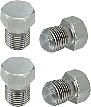 Oil Squirter Plug Set B16 B16A B16A2 B17A B18C B18C1 B18C5 Stainless Steel (Pack of 4)