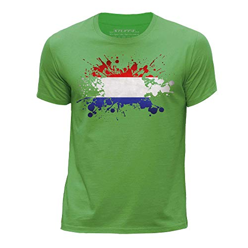 Stuff4® jongens/ronde hals T-shirt/Nederland vlag Splat