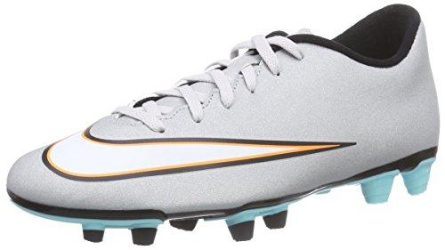 Nike Mercurial Vortex II CR FG, Herren Fußballschuhe, Grau (Mtllc Silver/Blk-Hypr TRQ-Blk), 46 EU