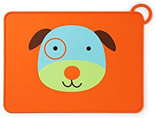 Skip Hop Zoo Fold and Go Silicone Kids Placemat, Darby Dog