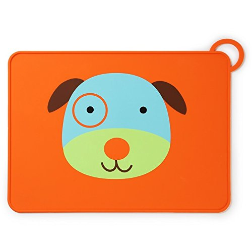 Skip Hop Zoo Fold and Go Silicone Placemat, Darby Dog
