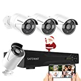 5MP Home Security Camera System Outdoor, SAFEVANT 8 Channel Outdoor Indoor CCTV AHD DVR Kits Wired Systems 4pcs 2.5×1080P Surveillance Cameras with Night Vision Motion Detection
